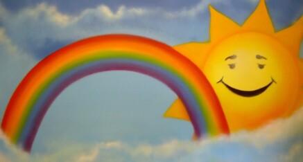 Kinderarzt (Sonne mit Regenbogen)