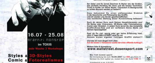 Wallstreet No.1 – Dosensport initiiert eigenes Jugendprojekt