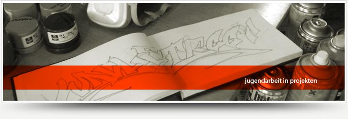 Wir führen jährlich mit unseren partnern Graffiti Kurse durch.