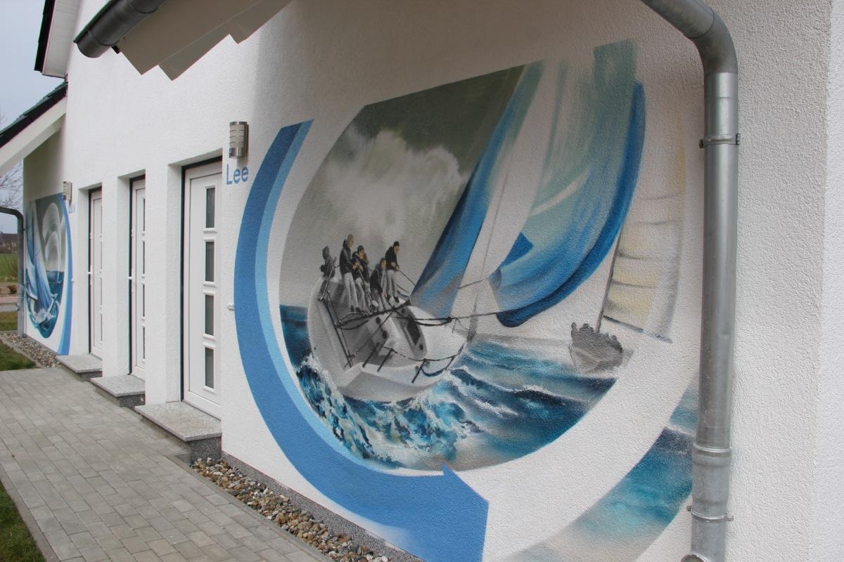 wandgestaltung ? ideen von dosenkünstlern umgesetzt - Wandgestaltung Schlafzimmer Maritim